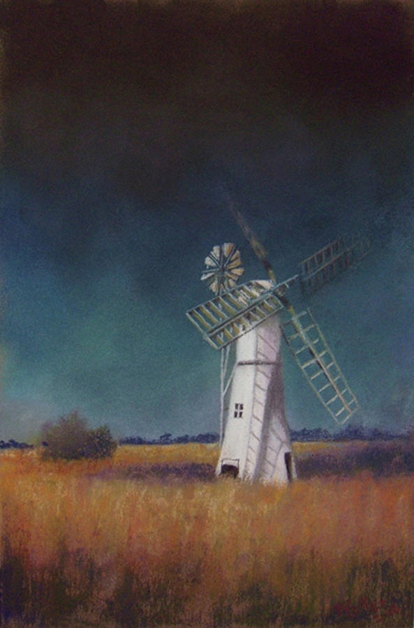 Windmills Pastel - A New Day by Marcus Moller
