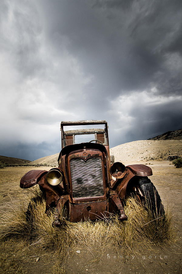 Old Car Photograph - A Old Time Car by Henny Gorin