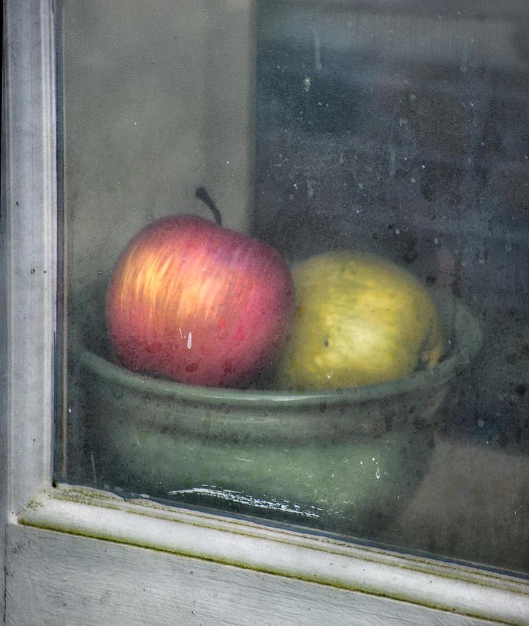 Apple Photograph - A Pair by Brenda Bryant