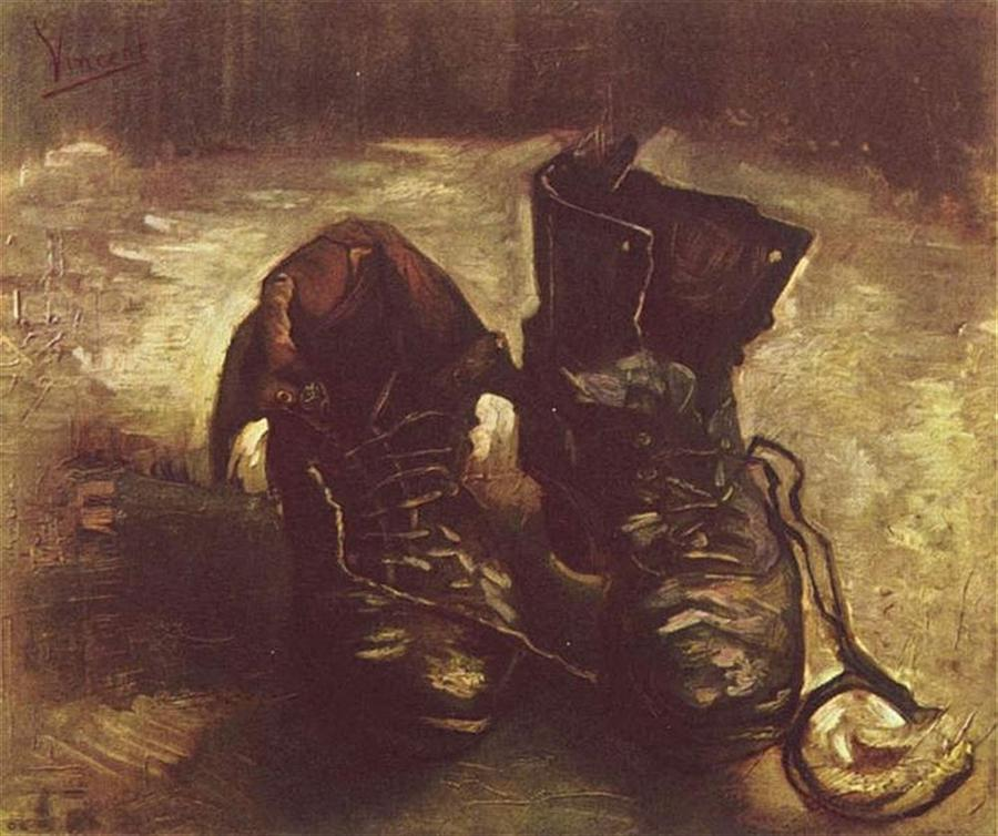 shoes van gogh