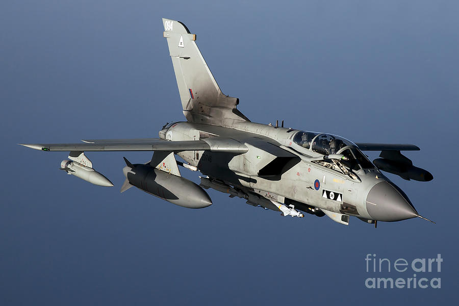 Libya Photograph - A Panavia Tornado Gr4 Of The Royal Air by Gert Kromhout