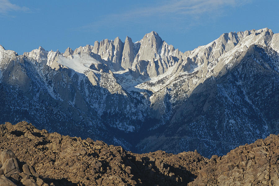 Scenic Views Photograph - A Panoramic View Of Mount Whitney by Marc Moritsch