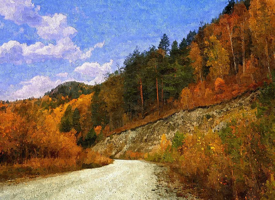 Landscape Painting - A Path Of Solitude by Lynda K Cole-Smith