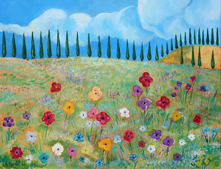 Flowers Painting - A Peaceful Place by John Keaton