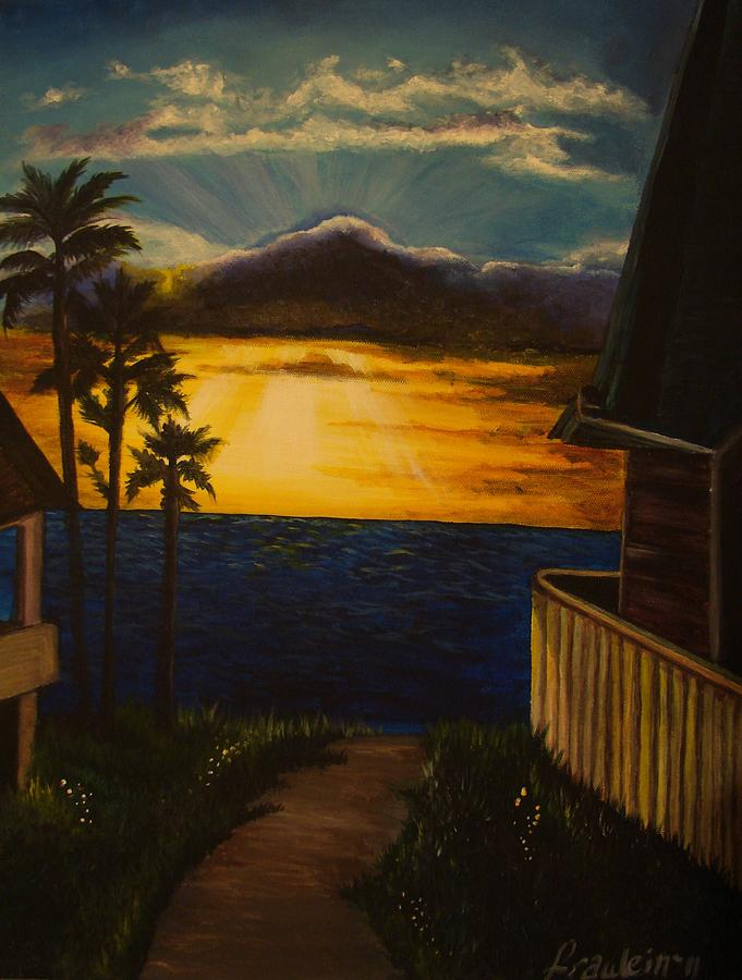 Sunset Painting - A Perfect Moment by Glory Fraulein Wolfe