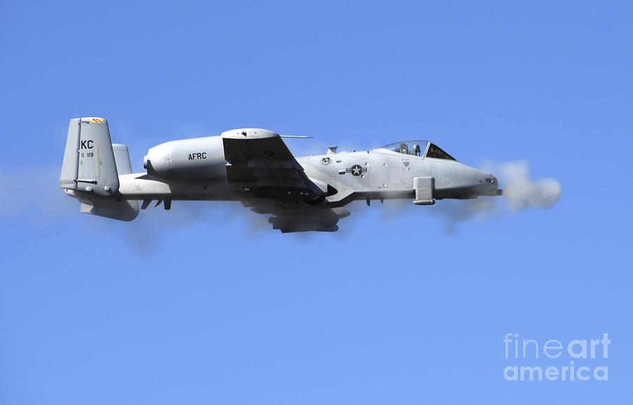 Horizontal Photograph - A Pilot In An A-10 Thunderbolt II Fires by Stocktrek Images