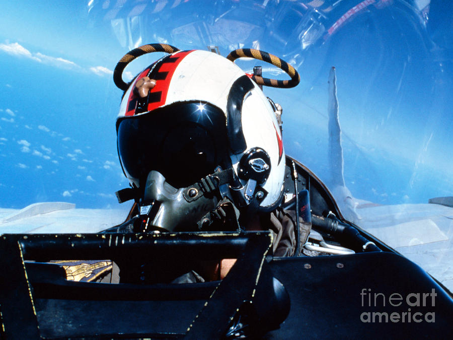Helmet Photograph - A Pilot Sitting In The Back by Dave Baranek