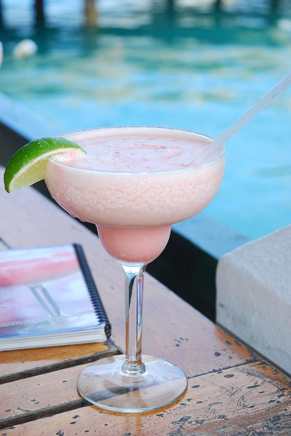 St. George's Photograph - A Pink Sand Margarita by Hibberd, Shannon