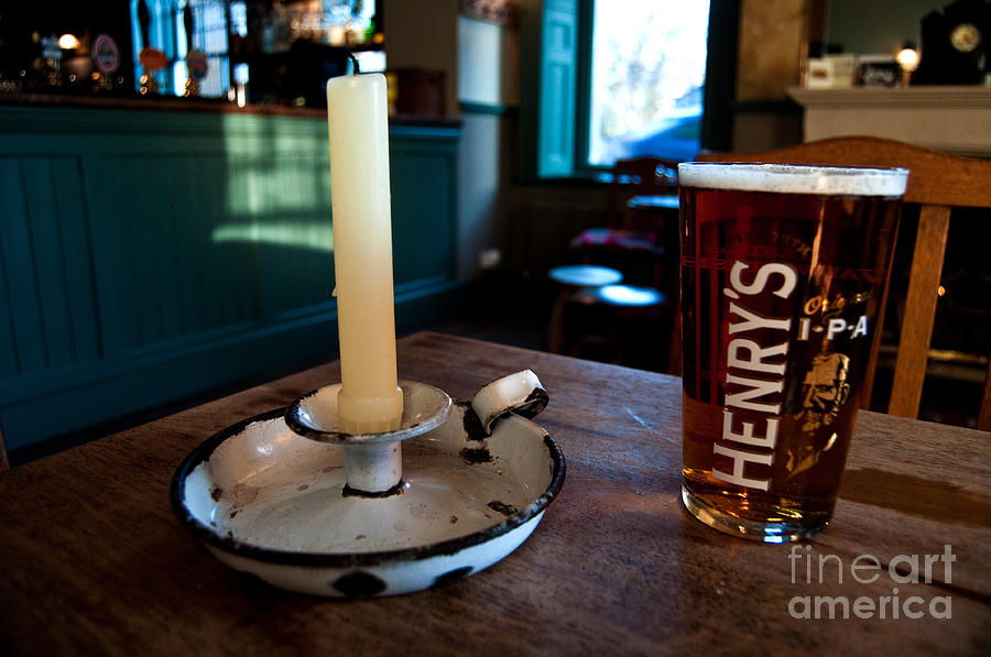 Beer Photograph - A Pint Of Henrys by Rob Hawkins