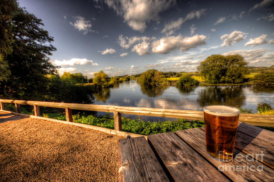 Beer Photograph - A Pint With A View  by Rob Hawkins