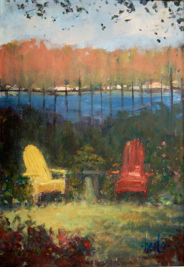 Plein Air Painting - A Polasek Welcome by Berto Ortega