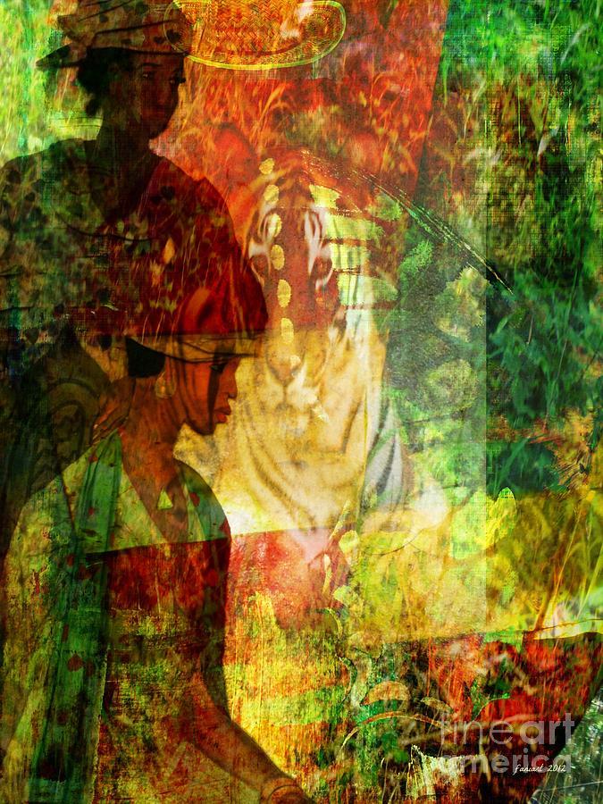 Fania Simon Mixed Media - A Poly Game Y Tale by Fania Simon