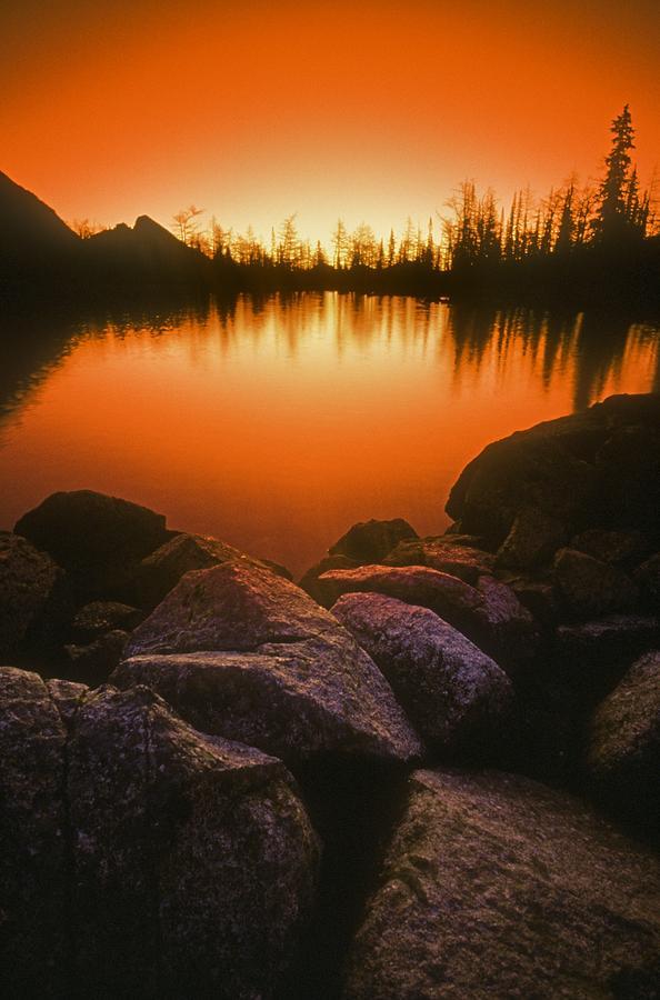 British Columbia Photograph - A Pond At Sunset, British Columbia by Bilderbuch