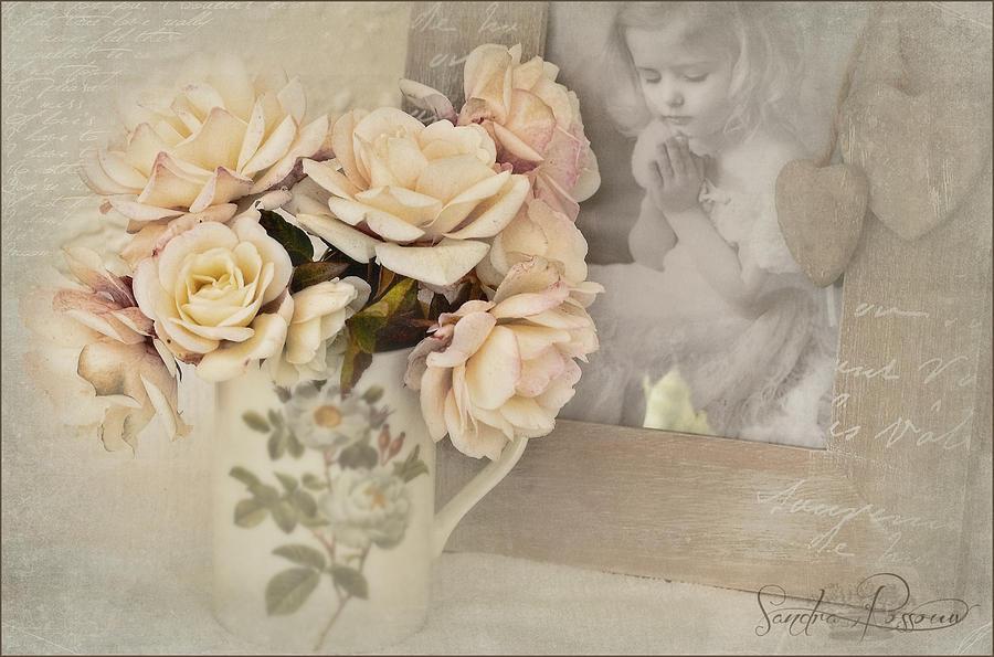 White Photograph - A Prayer For Peace  by Sandra Rossouw