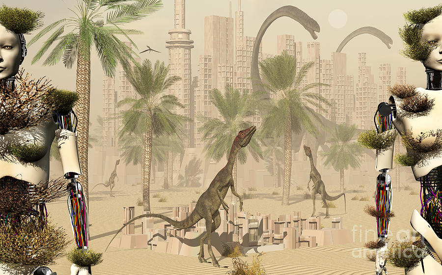 Nature Digital Art - A Prehistoric City Now Void Of Any Life by Mark Stevenson
