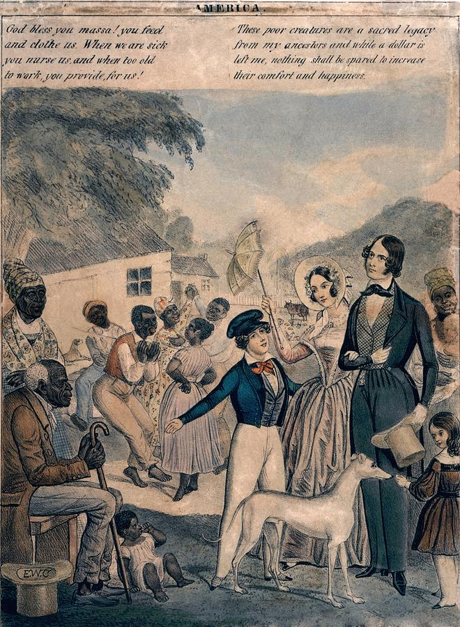History Photograph - A Pro-slavery Portrayal by Everett