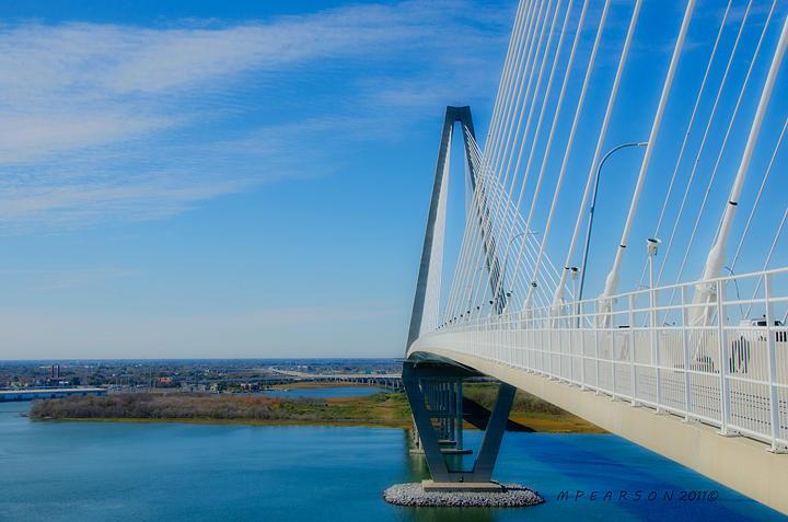 A. Ravenel Bridge Photograph - A Ravenel Bridge Charleston Sc by Megan Pearson