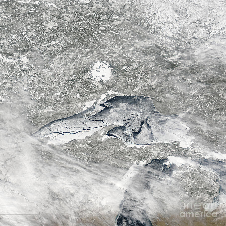 Space Photograph - A Relatively Rare Blanket Of Ice Rests by Stocktrek Images