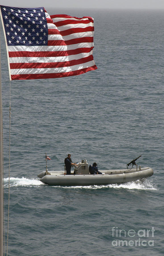 Color Image Photograph - A Rigid Hull Inflatable Boat by Stocktrek Images