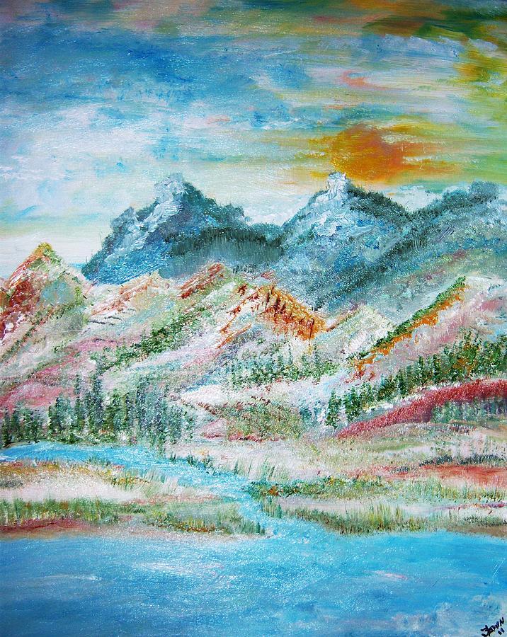 Landscape Painting - A River Runs Through  by Fawn Whelahan