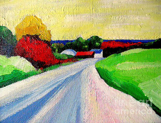 A Road Up North Painting by Lisa Dionne