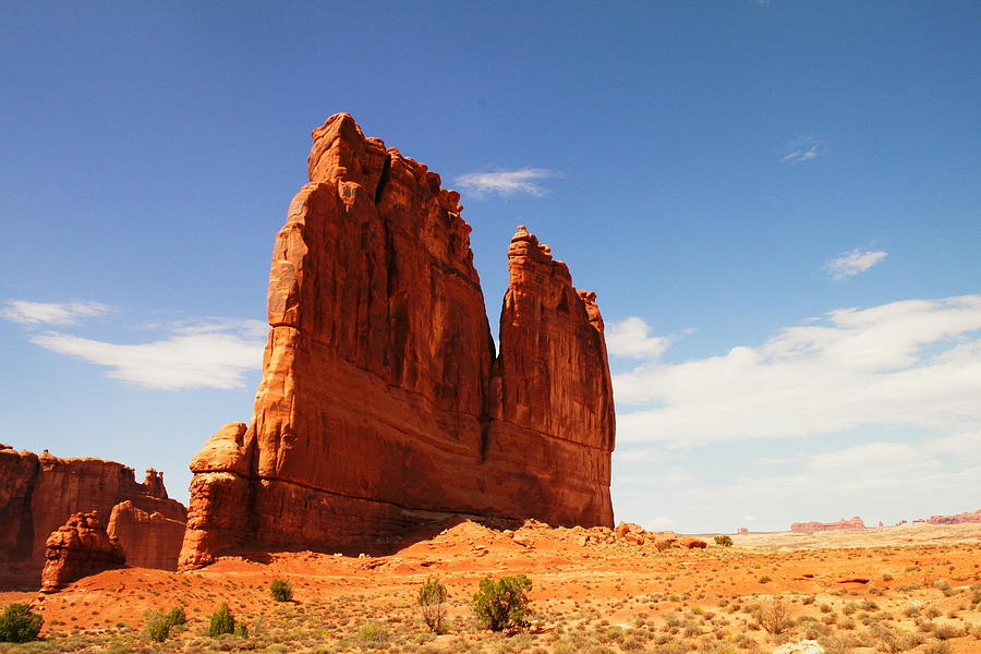Hills Photograph - A Rock At Arches by Jeff Swan