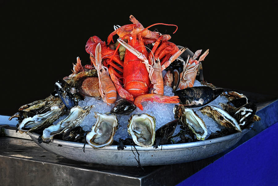 Seafood Photograph - A Seafood Orgy by Dave Mills