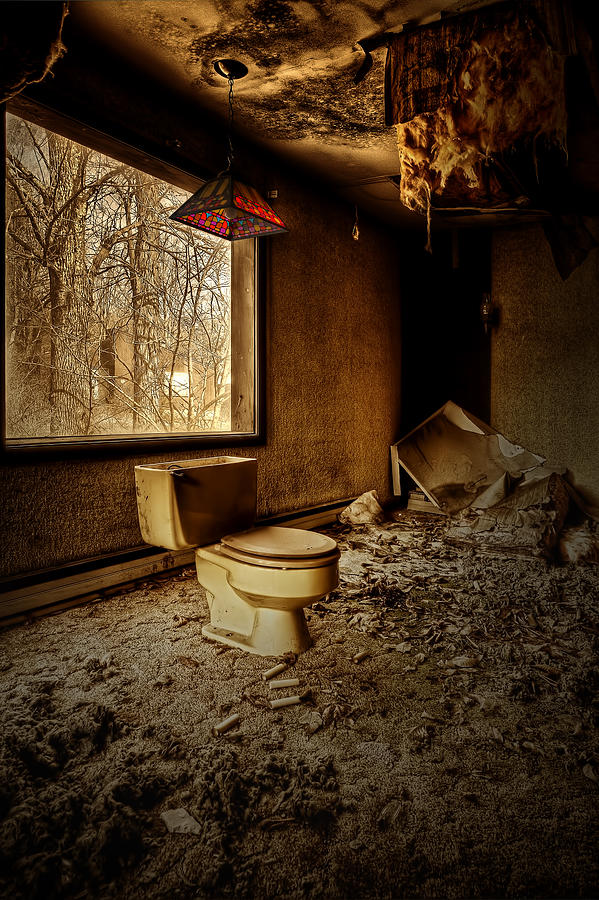 Toilet Photograph - A Seat With A View by Dmitriy Mirochnik