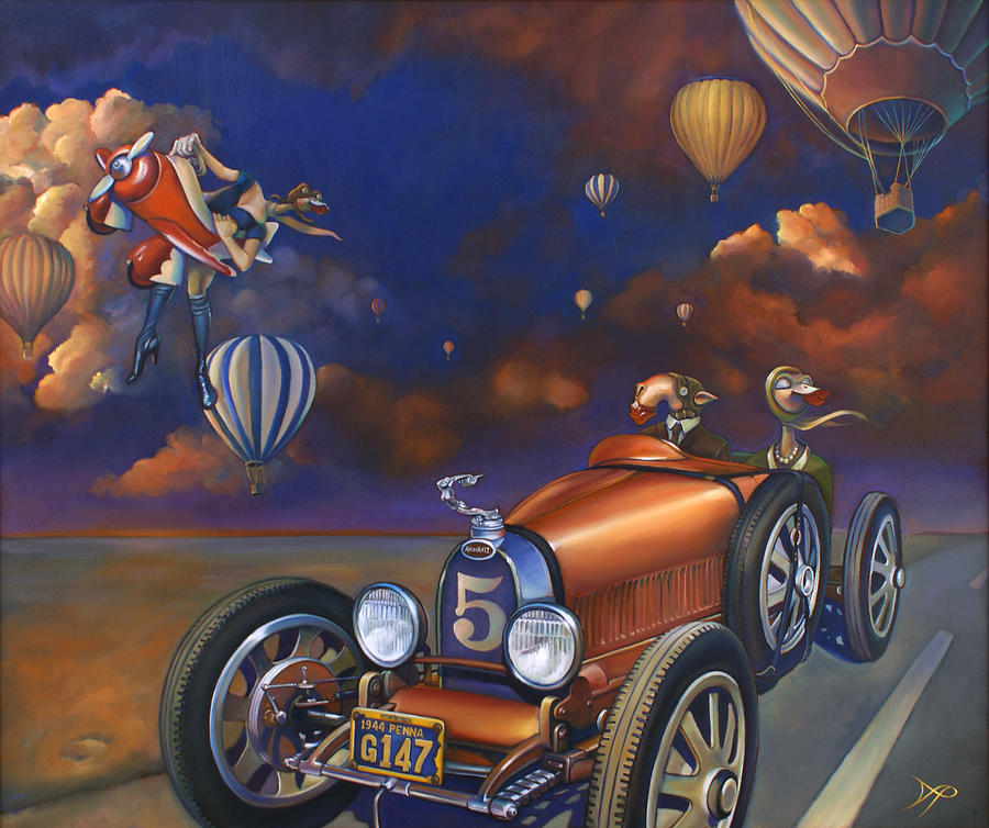 Bugatti Painting - A Selfish Pair Of Jeans by Patrick Anthony Pierson