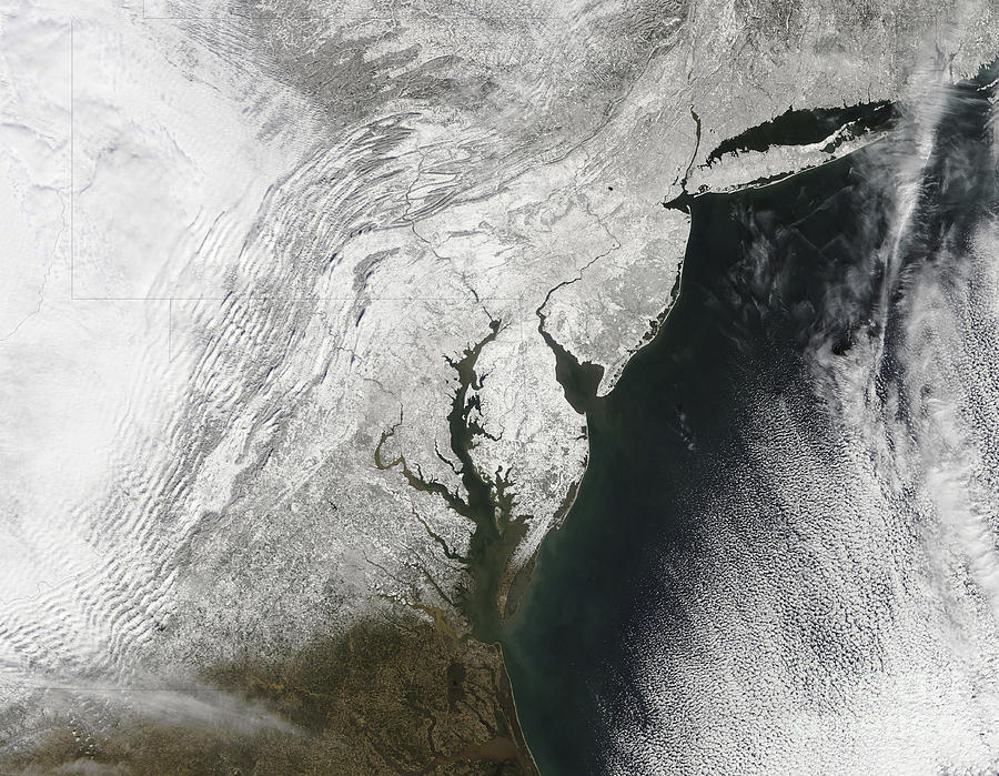 Blizzard Photograph - A Severe Winter Storm Along The United by Stocktrek Images
