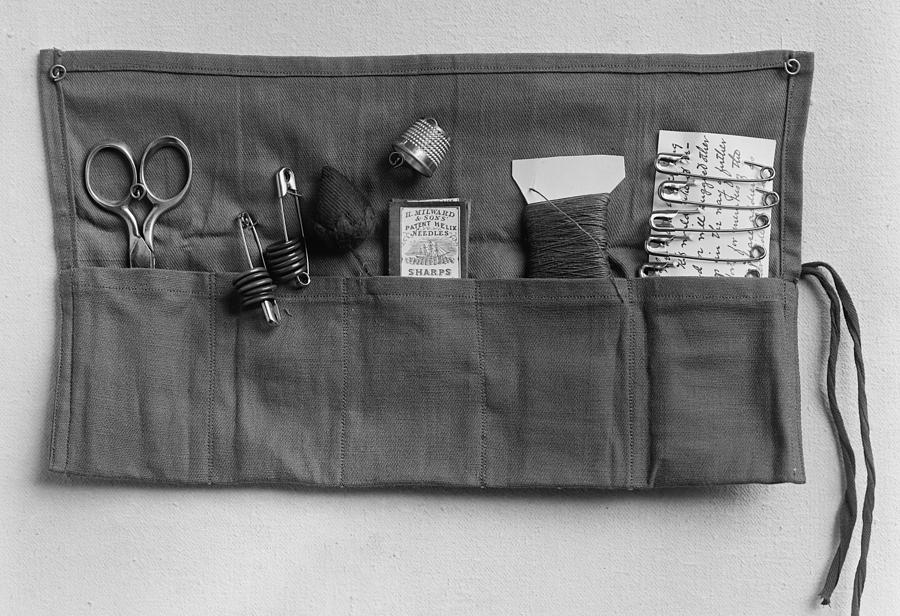 History Photograph - A Simple Sewing Kit, Provided by Everett