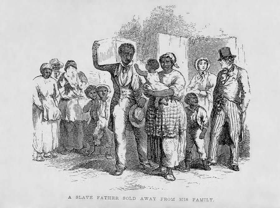 History Photograph - A Slave Father Sold Away by Everett