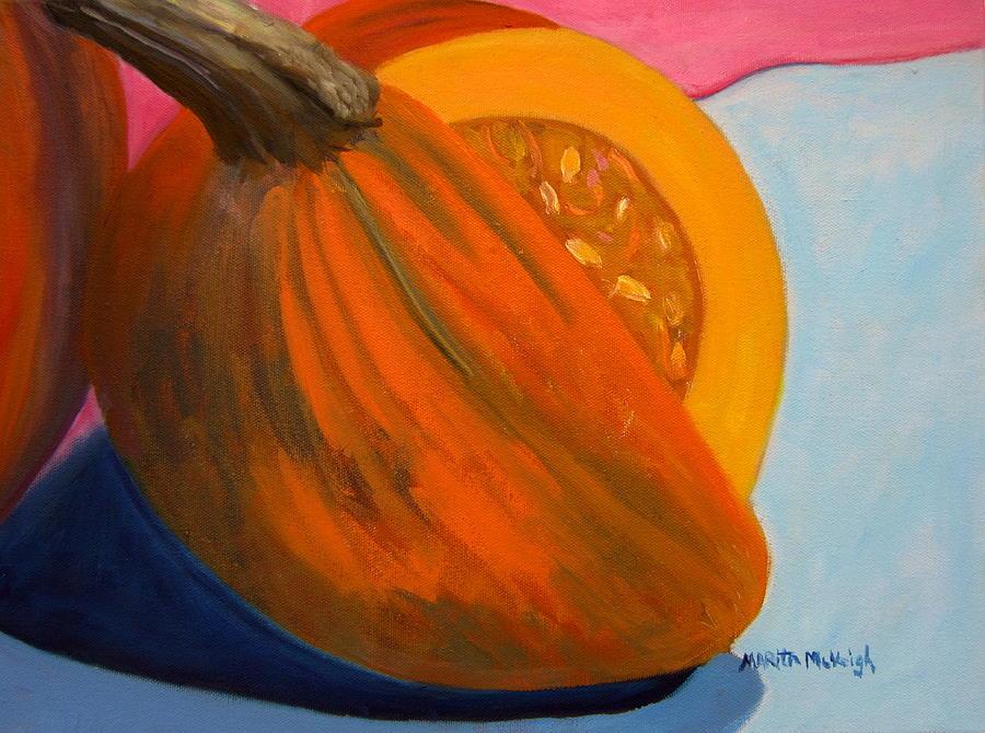 Pumpkin Painting - A Slice Of Autumn by Marita McVeigh