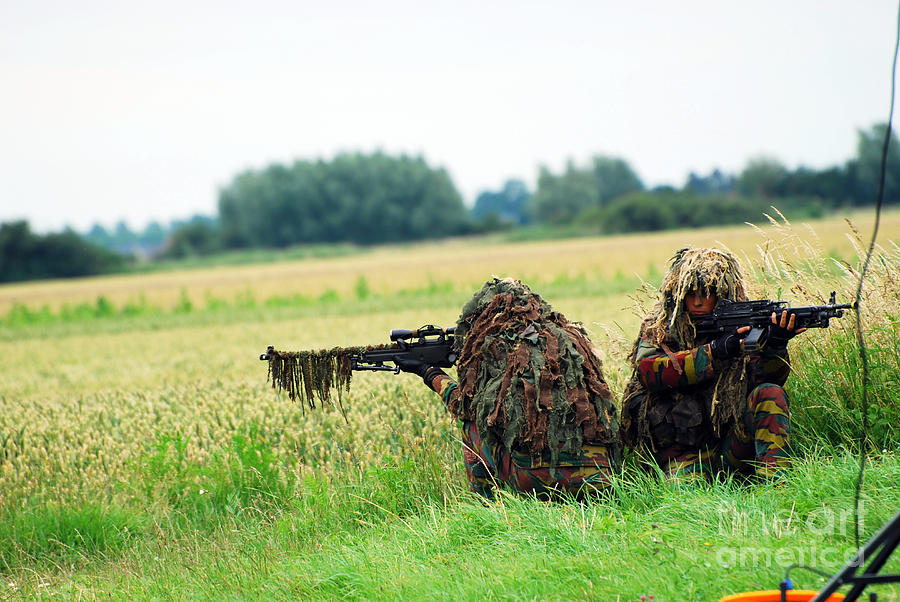 Armed Forces Photograph - A Sniper Unit Of The Paracommandos by Luc De Jaeger