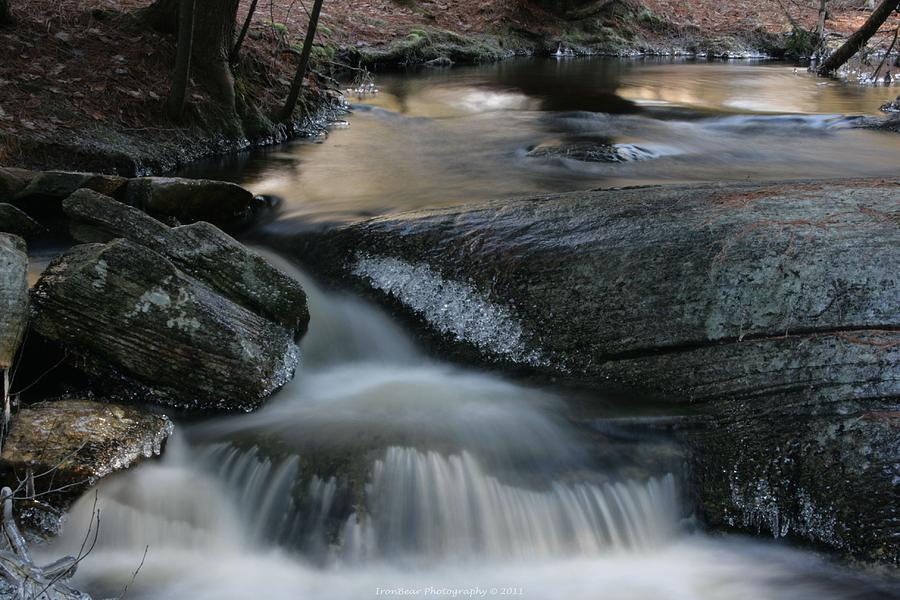 Waterfall Photograph - A Soft Careen  by Ted Albert