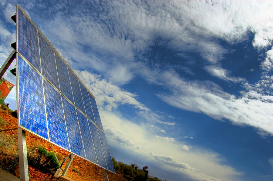 South Australia Photograph - A Solar Panel In The Desert Of South by Brooke Whatnall