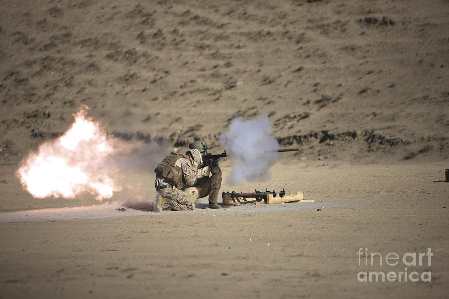 Kunduz Photograph - A Soldier Fires A Rocket-propelled by Terry Moore