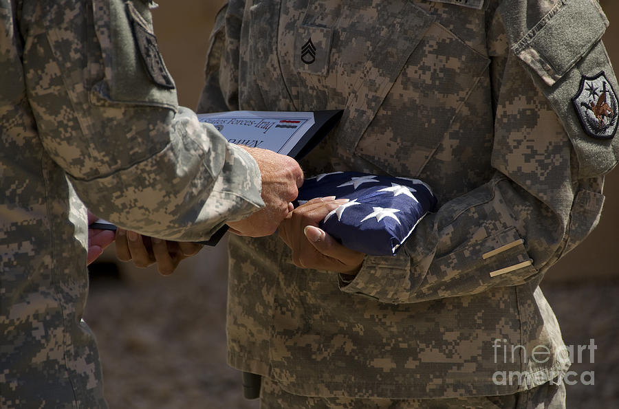 Airmen Photograph - A Soldier Is Presented The American by Stocktrek Images