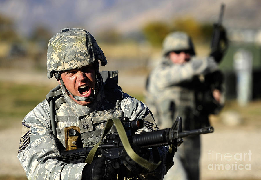 Utah Photograph - A Soldier Shows His Emotions by Stocktrek Images