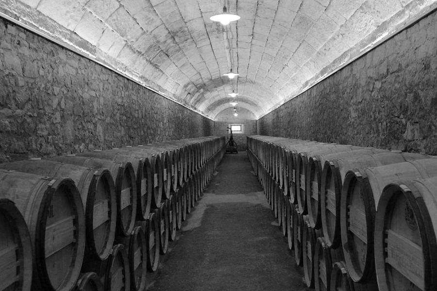Barrels Photograph - A Spanish Cellar by John Stuart Webbstock