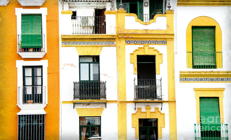Windows Photograph - A Spanish Facade by Perry Van Munster