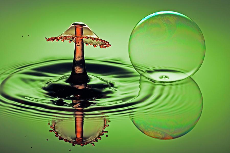 A Splash And A Bubble Photograph