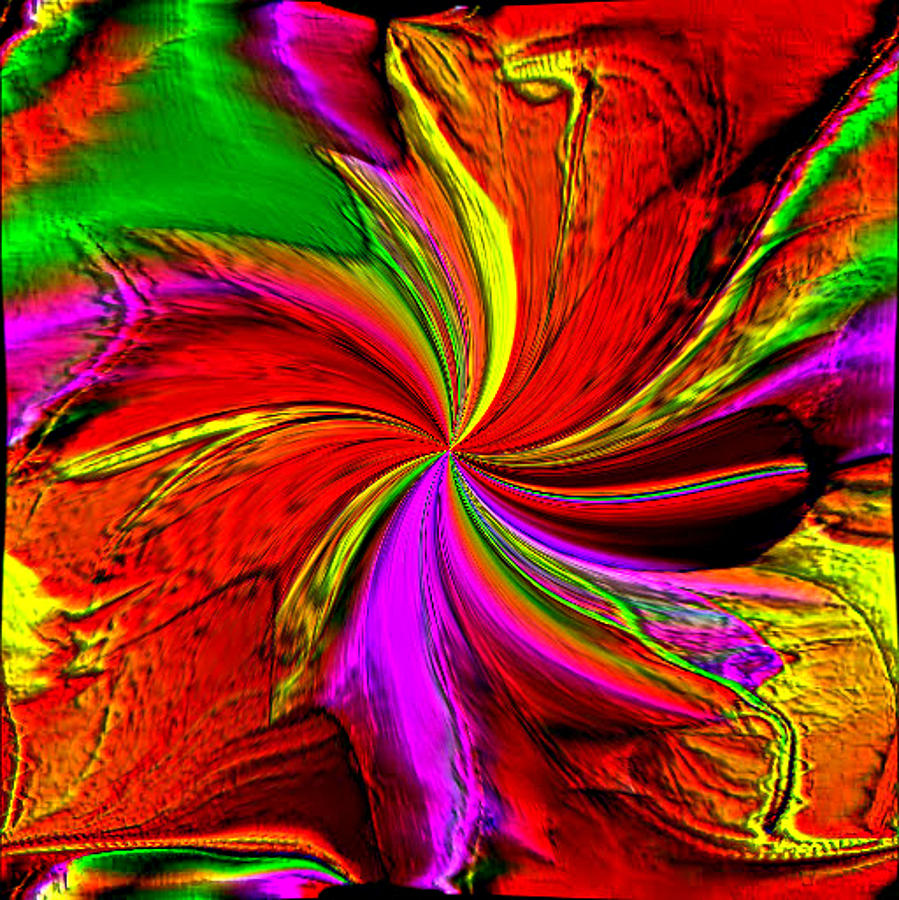 7704a9355 A Splash Of Color Digital Art by Michael Hickey