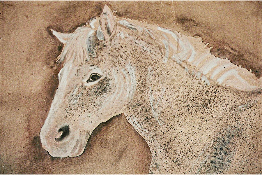 Stallion Painting - A Stallion by Remy Francis
