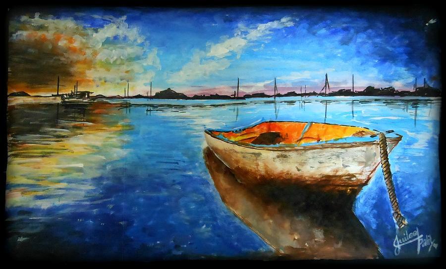 Boat Drawing - A Stolen Boat by Juilee Patil