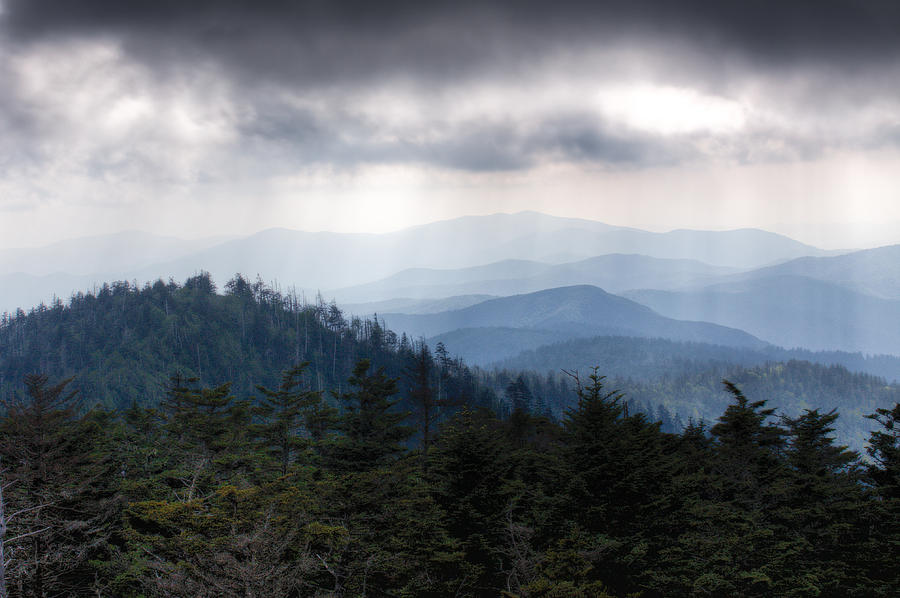 Great Smokey Mountains Photograph - A Storm Over The Smokys by Pixel Perfect by Michael Moore