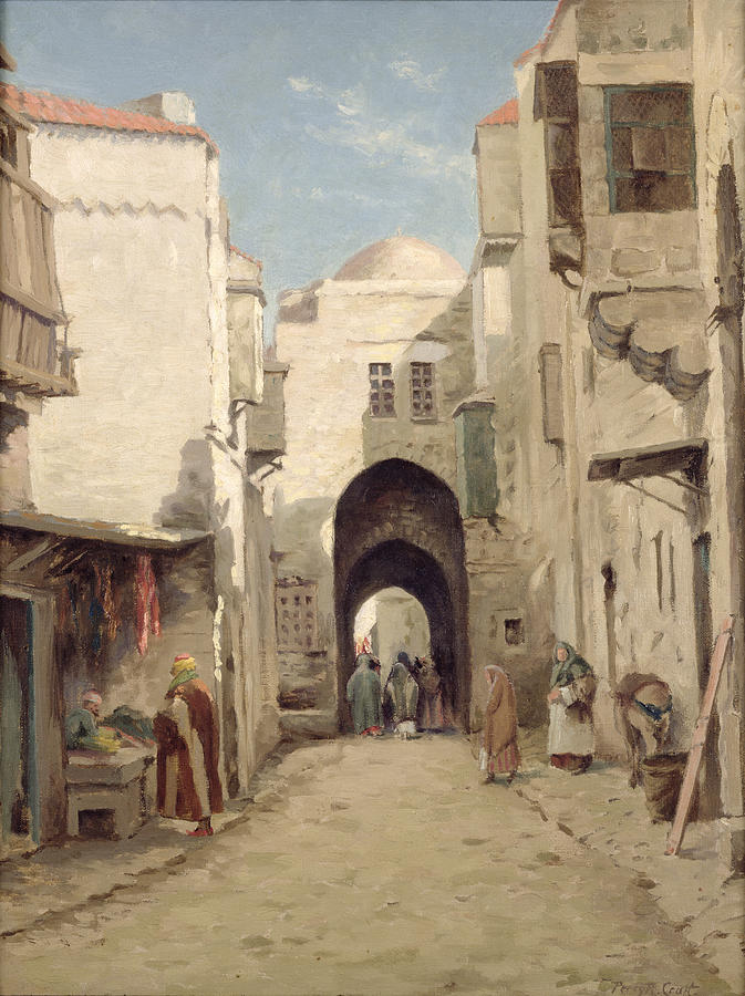 A Street In Jerusalem Painting By Percy Robert Craft