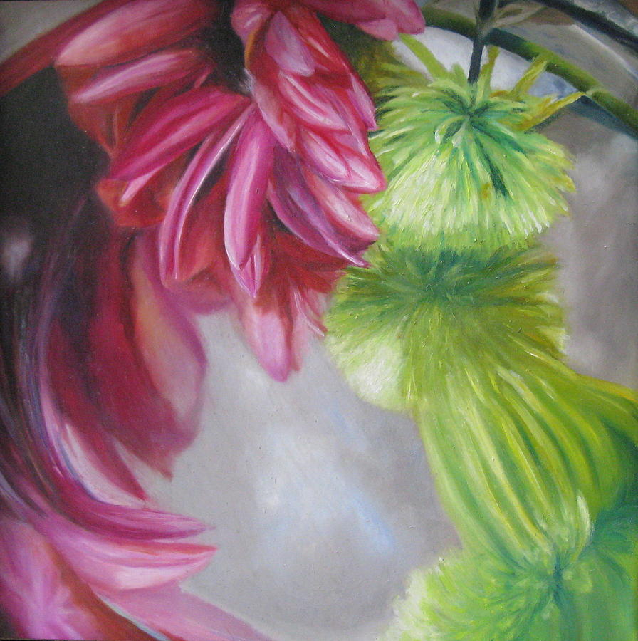 A Study In Pink And Green Painting By Erin Hardin