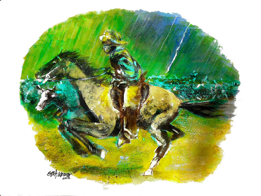 Mixed Media Painting - A Study of Remington by Seth Weaver