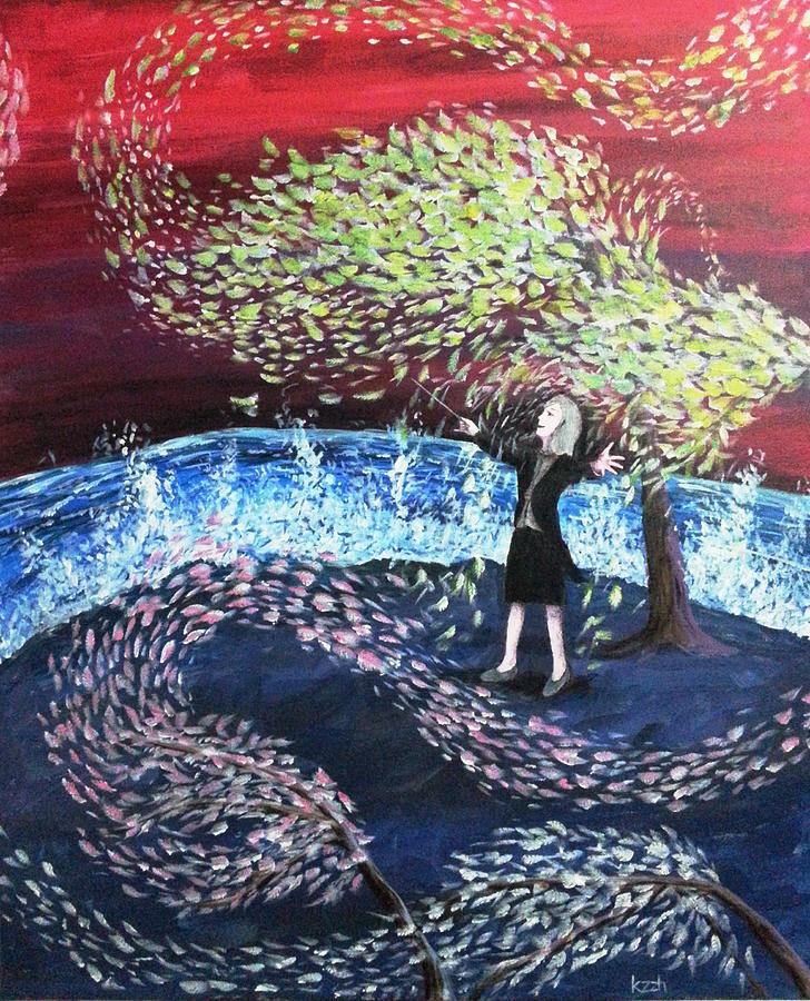Conductor Painting - A Symphony Of Life by Katchakul Kaewkate